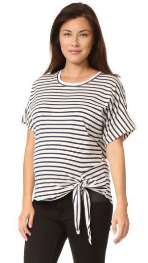 Свободная футболка в полоску для беременных MONROW. Цвет: полоска