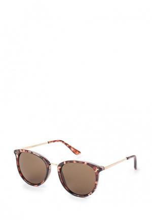 Очки солнцезащитные Mango. Цвет: коричневый