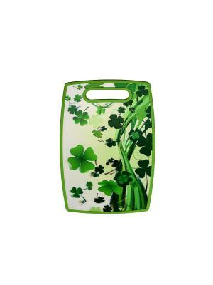 Разделочная доска пластиковая., 37х23 см. Elff Ceramics. Цвет: зеленый