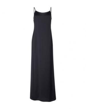 Длинное платье MAURIZIO PECORARO. Цвет: черный
