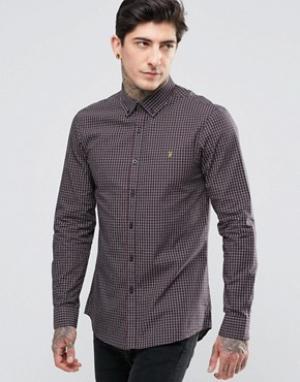 Farah Оксфордская рубашка узкого кроя. Цвет: красный