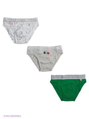 Набор из 3 трусов Ritta Romani. Цвет: белый, зеленый