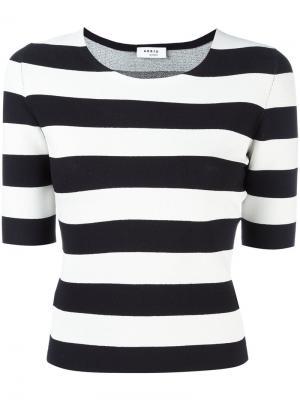 Fitted breton stripe top Akris Punto. Цвет: белый
