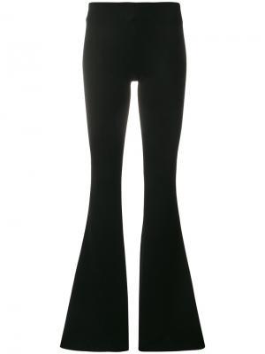 Расклешенные брюки джерси Galvan. Цвет: чёрный