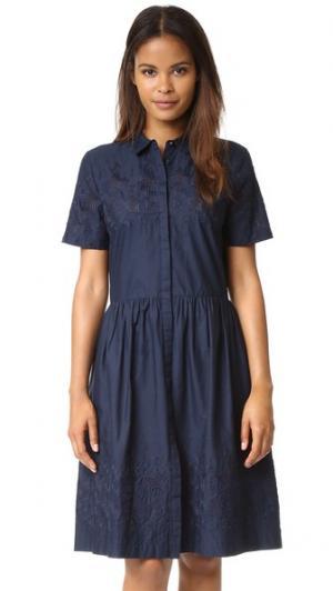 Платье с вышивкой Schoolgirl Chinti and Parker. Цвет: темно-синий