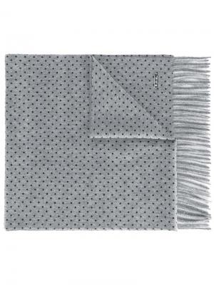Dotted scarf Loro Piana. Цвет: серый