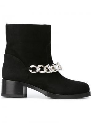 Ботинки с цепочной отделкой Le Silla. Цвет: чёрный
