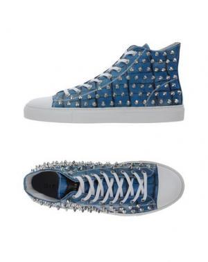 Высокие кеды и кроссовки GIENCHI. Цвет: синий