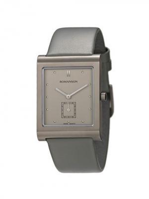 Часы DL0581NM Romanson. Цвет: серо-коричневый, серебристый