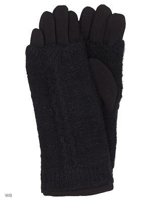 Перчатки со съемными митенками Migura. Цвет: черный