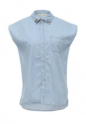 Рубашка джинсовая Sela. Цвет: голубой