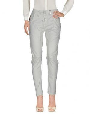 Повседневные брюки HIGH. Цвет: светло-серый