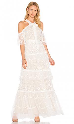 Вечернее платье primrose Needle & Thread. Цвет: белый