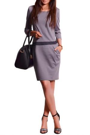 Платье FRANCESCA LUCINI. Цвет: серый, меланж