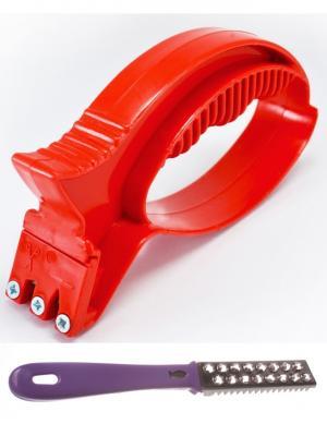 Универсальная точилка для ножей и рыбочистка фиолетовая Радужки. Цвет: фиолетовый, красный