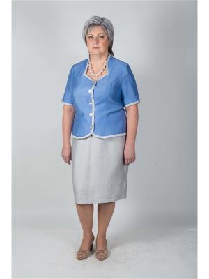 Жакет Eva Graffova. Цвет: голубой