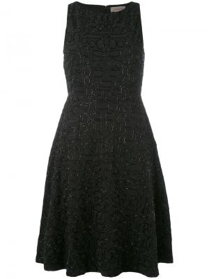 Платье шифт с вышивкой Tony Cohen. Цвет: чёрный