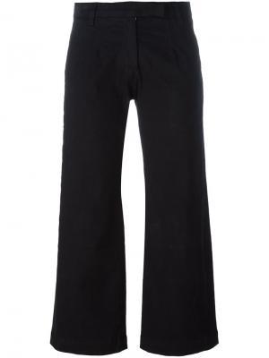Расклешенные брюки-капри Current/Elliott. Цвет: чёрный