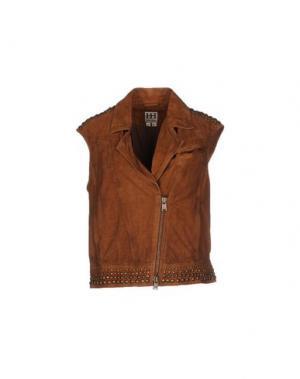 Куртка HAUTE HIPPIE. Цвет: коричневый