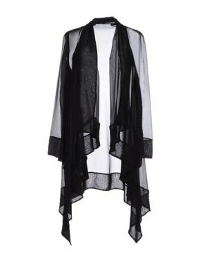Легкое пальто GAI MATTIOLO. Цвет: черный