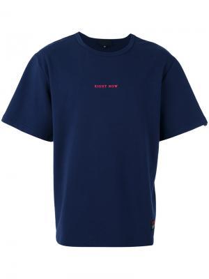 Loose-fit T-shirt Xander Zhou. Цвет: синий
