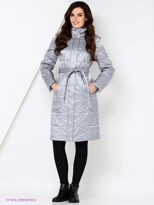 Пальто STEINBERG. Цвет: серебристый