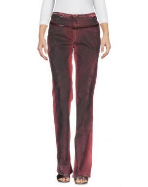 Джинсовые брюки ROBERTA SCARPA. Цвет: кирпично-красный