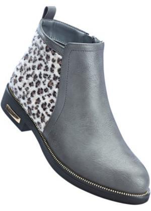 Ботинки-челси (серый) bonprix. Цвет: серый