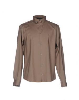 Pубашка COSTUME NATIONAL HOMME. Цвет: хаки