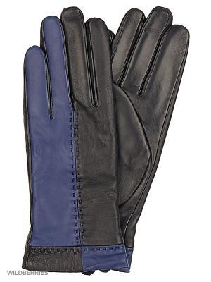 Перчатки женские с эффектом Touch Screen Marco Bonne`. Цвет: черный, темно-синий