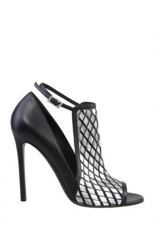 Туфли с металлизированной отделкой GREYMER. Цвет: черный