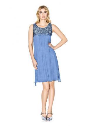 Платье PATRIZIA DINI. Цвет: голубой, серебристо-серый