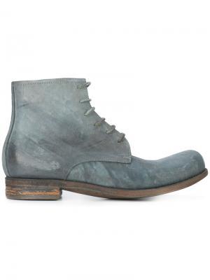 Ботинки на шнуровке A Diciannoveventitre. Цвет: серый