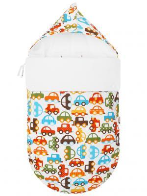 Конверт для новорождённого в автокресло Берегись автомобиля! (зима) MIKKIMAMA. Цвет: белый, зеленый, коричневый, голубой, красный, оранжевый