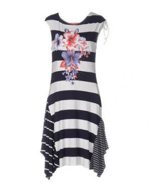 Короткое платье CELLINI. Цвет: темно-синий