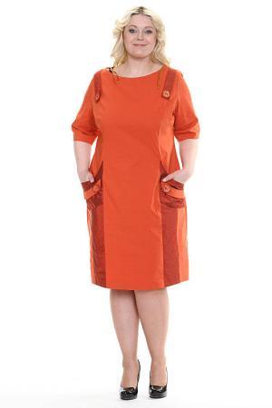 Платье Шанель Зар-Стиль. Цвет: терракот