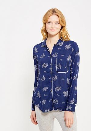 Рубашка домашняя Gap. Цвет: синий