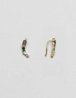 Orelia Позолоченные серьги с опалом. Цвет: золотой