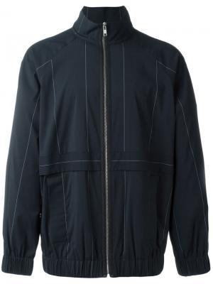Спортивная куртка с графическим принтом Alexander Wang. Цвет: синий