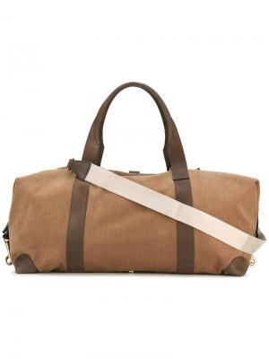Большая дорожная сумка Loro Piana. Цвет: коричневый