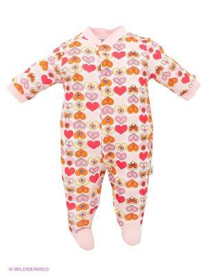 Комбинезон FS Confeccoes. Цвет: бледно-розовый, красный, оранжевый