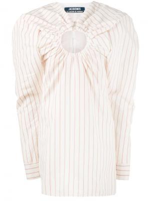 Платье с тонкую полоску Jacquemus. Цвет: белый