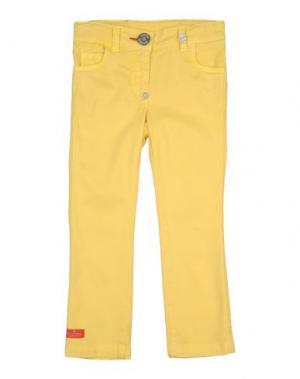Джинсовые брюки PHILIPP PLEIN. Цвет: желтый