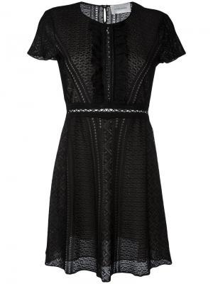 Платье с рюшами Zuhair Murad. Цвет: чёрный