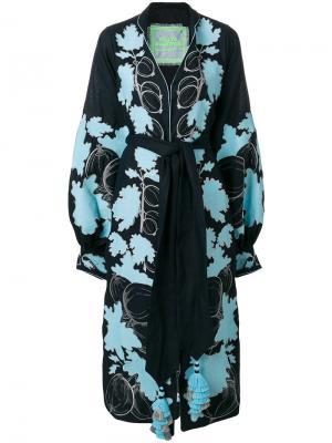 Платье с крыжовником Yuliya Magdych. Цвет: синий