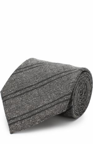 Галстук из смеси шелка и шерсти Tom Ford. Цвет: темно-серый