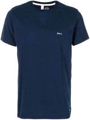 Классическая приталенная футболка Bleu De Paname. Цвет: синий