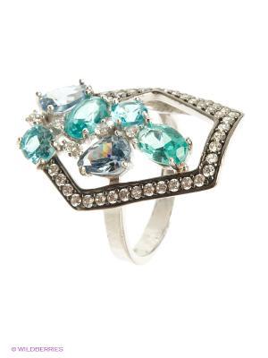 Кольцо Мастер Клио. Цвет: серебристый, белый, морская волна, серо-голубой