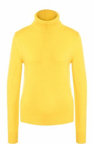 Однотонный кашемировый свитер Ralph Lauren. Цвет: желтый