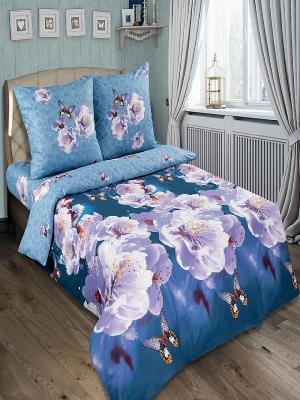 Комплект постельного белья Арт Постель. Цвет: синий
